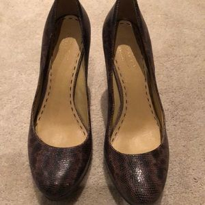 Coach python platform heels, Sz 7